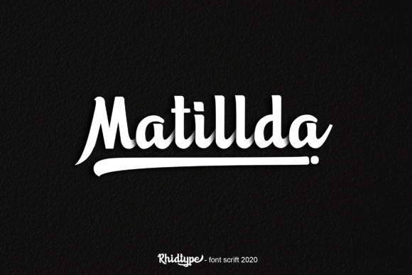 Print on Demand: Matillda Script & Handwritten Font By RHIDTYPE