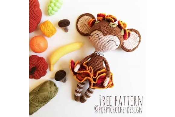 Maya the Monkey Lady Crochet Pattern Graphic Crochet Patterns By Needle Craft Patterns Freebies