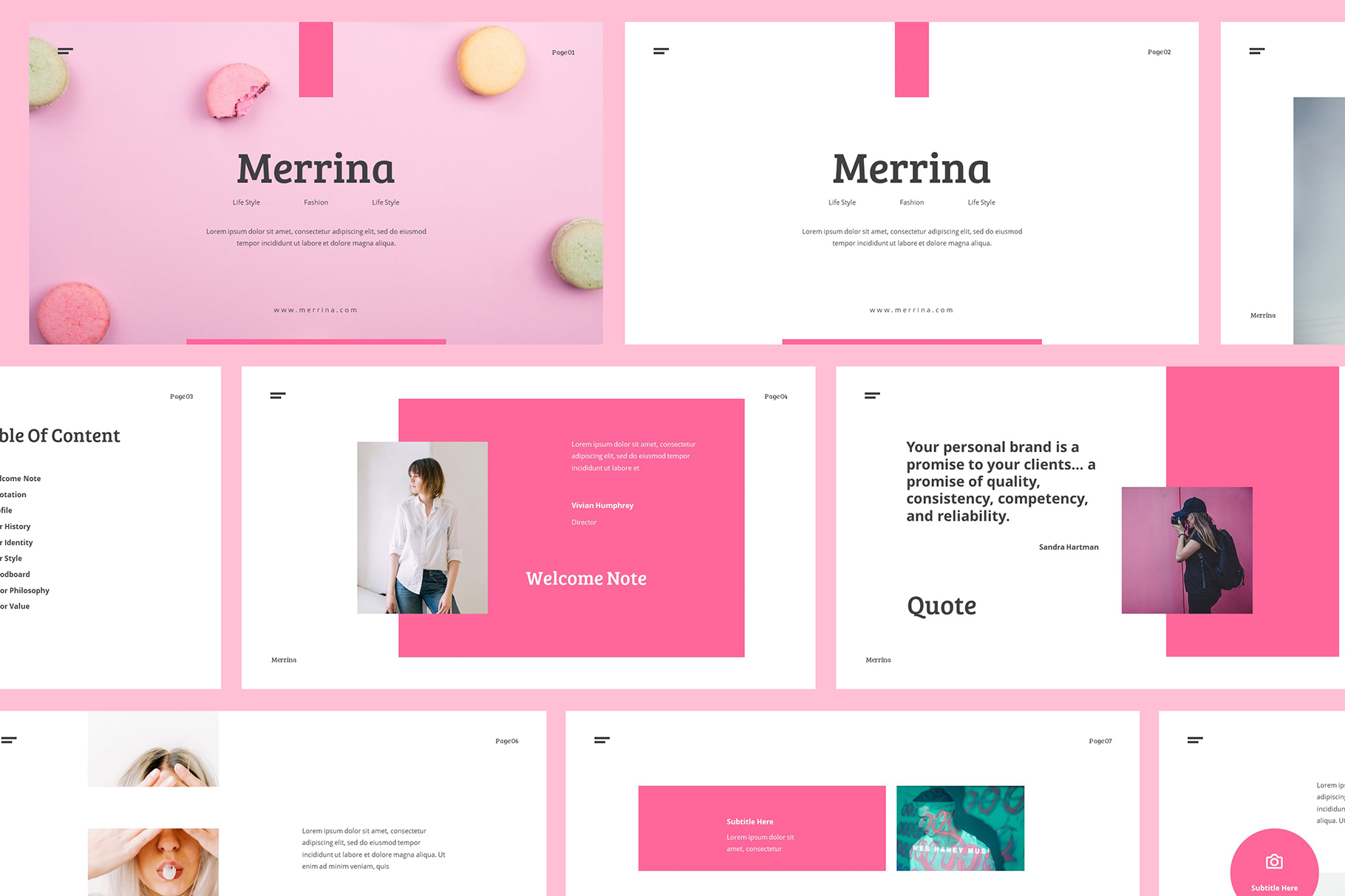 Download Free Merrina Brand Guideline Powerpoint Grafik Von Giant Design for Cricut Explore, Silhouette and other cutting machines.