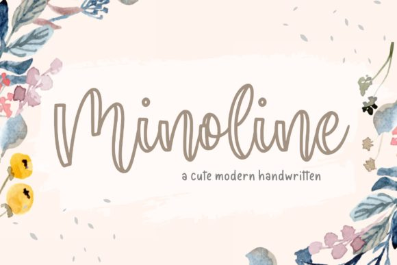 Print on Demand: Minoline Script & Handwritten Font By Balpirick