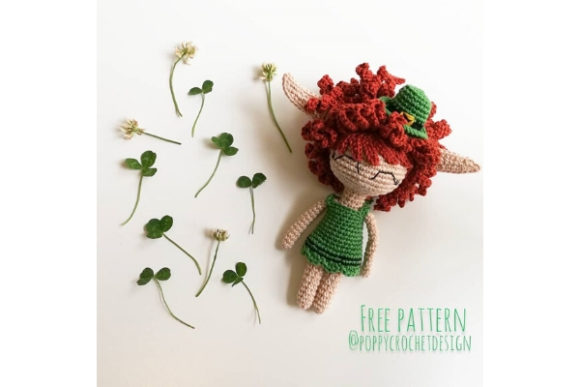 Miss Leprechaun Crochet Pattern Grafik Häkeln von Needle Craft Patterns Freebies