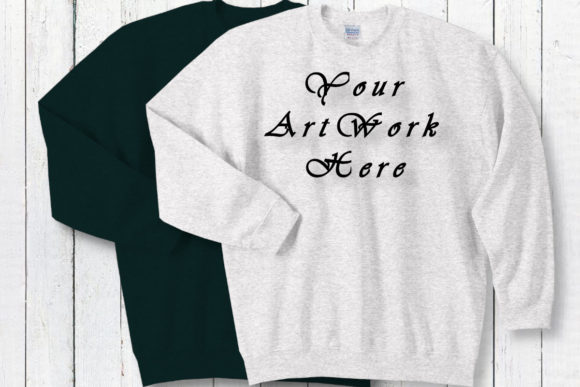Mockup Gildan Sweatshirts White Graphic Product Mockups By MockupsByGaby