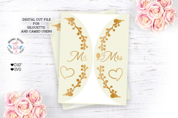 Mr and Mrs Invitation Card for Wedding Graphic Crafts By GraphicHouseDesign