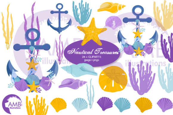 Nautical Treasures Clipart 2791 Graphic Illustrations By AMBillustrations