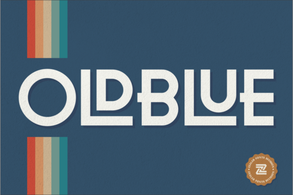 Print on Demand: Oldblue Display Font By zealab fonts division