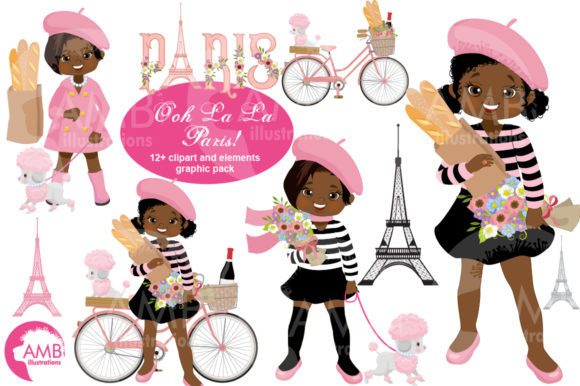 Ooh Lala Paris Clipart 2790 Graphic Illustrations By AMBillustrations