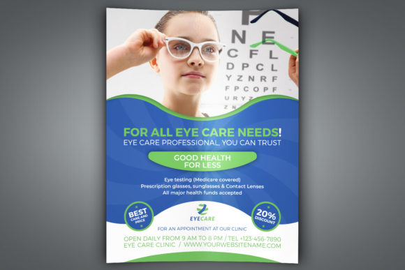 Print on Demand: Optometrist & Optician Flyer Graphic Print Templates By OWPictures