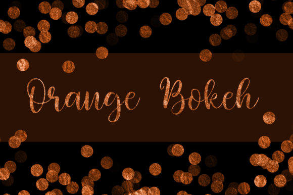 Orange Bokeh Glitter Background Graphic Backgrounds By PinkPearly