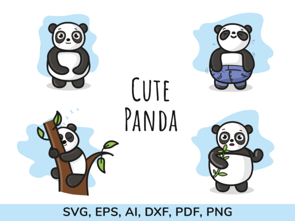 Print on Demand: Panda Graphic Illustrations By Simply Swapnil