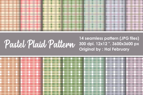 Print on Demand: Pastel Plaid Lumberjack Seamless Pattern Graphic Patterns By haifebruary