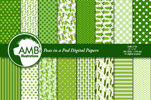 Peas in a Pod Papers 2796 Grafik Muster von AMBillustrations