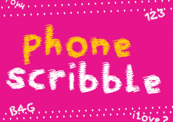 Print on Demand: Phone Scribble Display Font By GraphicsBam Fonts