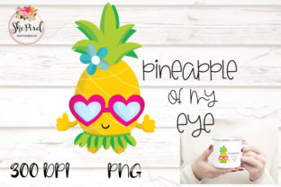 Print on Demand: Pineapple Clipart Graphic Crafts By FunFair Designs