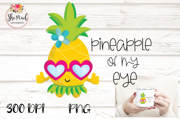 Print on Demand: Pineapple Clipart Graphic Crafts By ShePixel