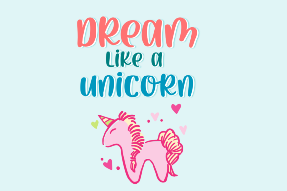 Print on Demand: Pink Horn Unicorn Script & Handwritten Font By deedeetype - Image 2