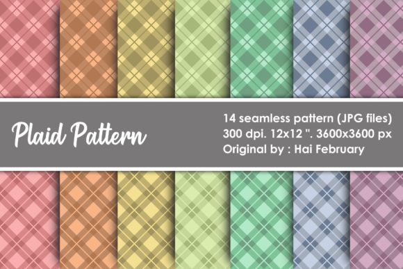 Print on Demand: Plaid Paper Seamless Pattern Graphic Patterns By haifebruary