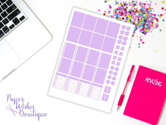 Planner Sticker Template Graphic Print Templates By PaperWishesBoutique