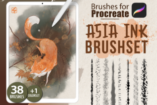 Procreate - Asia Ink Brushes Graphic Brushes By dibrush