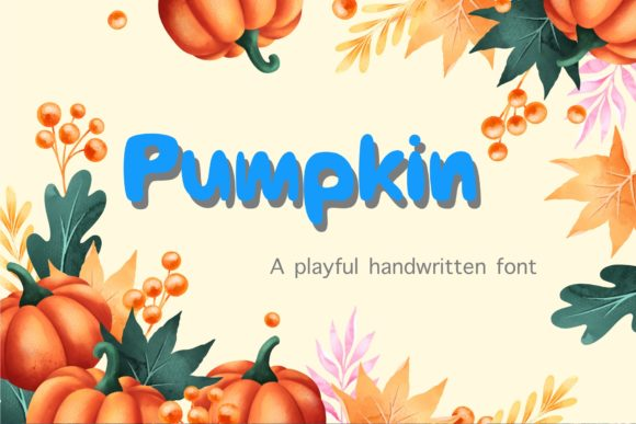 Print on Demand: Pumpkin Display Font By TakeNoteDesign