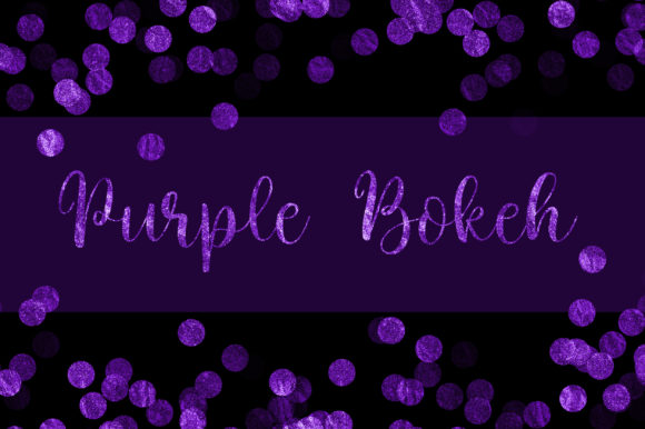 Purple Bokeh Glitter Background Graphic Backgrounds By PinkPearly