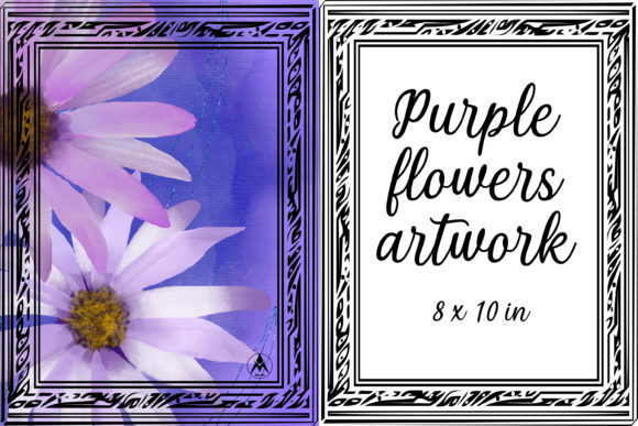 Print on Demand: Purple Flowers Artwork DIY Print & Frame Graphic Illustrations By JATA Arts