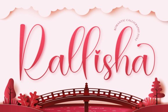 Print on Demand: Rallisha Script & Handwritten Font By Naharstd