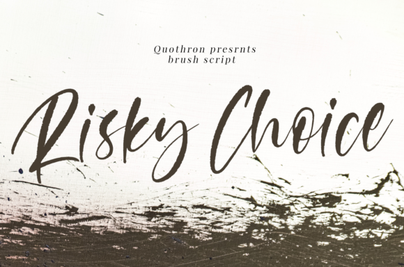 Print on Demand: Risky Choice Script & Handwritten Font By it_was_a_good_day
