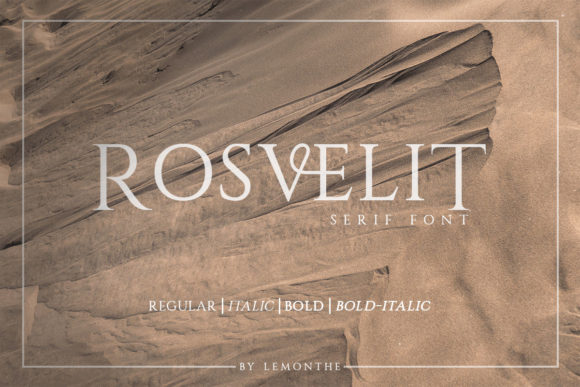 Print on Demand: Rosvelit Serif Font By lemonthe
