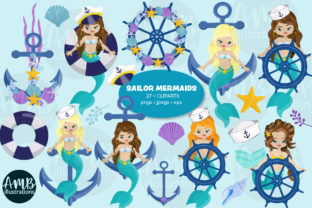 Sailor Mermaids Clipart 2793 Graphic Illustrations By AMBillustrations