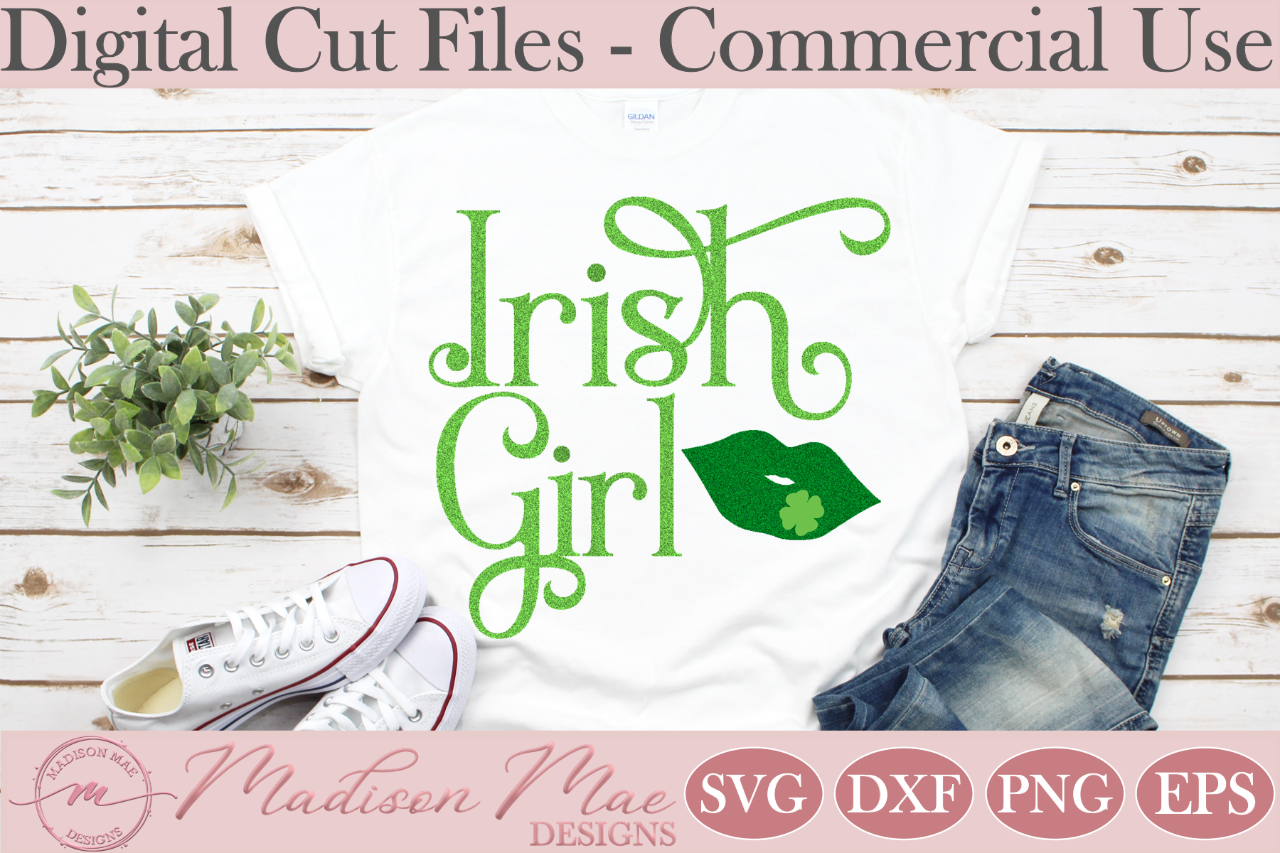 Download Free Saint Patrick S Day Svg Irish Girl Graphic By Madison Mae for Cricut Explore, Silhouette and other cutting machines.