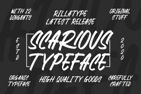 Print on Demand: Scarious Typeface Display Font By Rillatype
