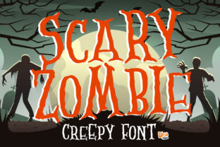Print on Demand: Scary Zombie Display Font By dmletter31 1
