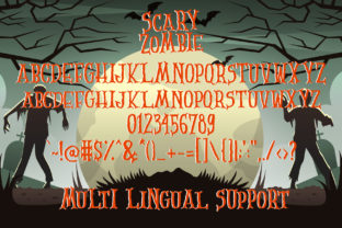 Print on Demand: Scary Zombie Display Font By dmletter31 5