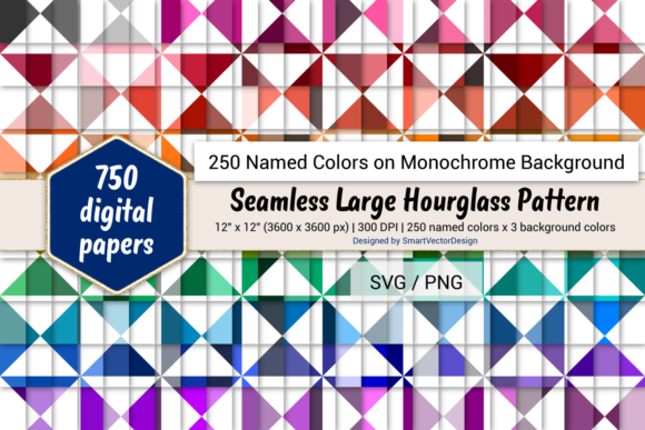 Download Free Seamless Large Hourglass Paper 250 Colors Graphic By for Cricut Explore, Silhouette and other cutting machines.