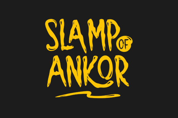Print on Demand: Slamp of Ankor Display Font By RHIDTYPE