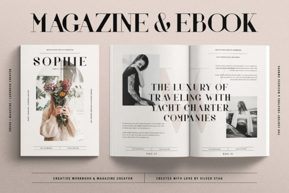 Print on Demand: Sophie - EBook & Magazine Creator Graphic Print Templates By SilverStag