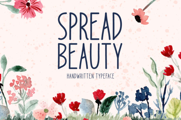 Print on Demand: Spread Beauty Display Font By Seemly Fonts