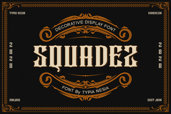 Print on Demand: Squadez Display Font By Typia Nesia