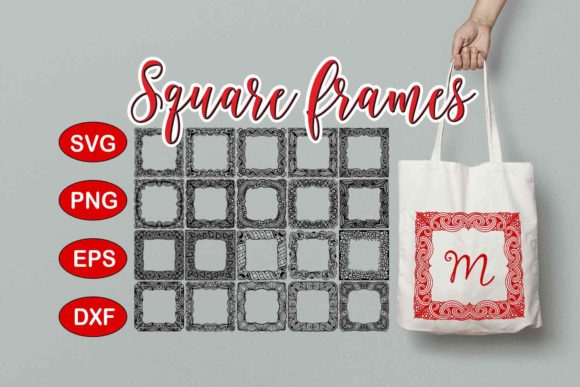 Print on Demand: Square Frames Pack Graphic Crafts By Eva Barabasne Olasz