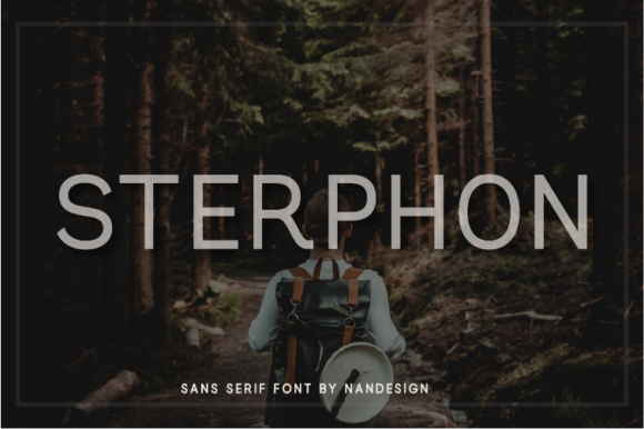 Print on Demand: Sterphon Sans Serif Font By Nan Design