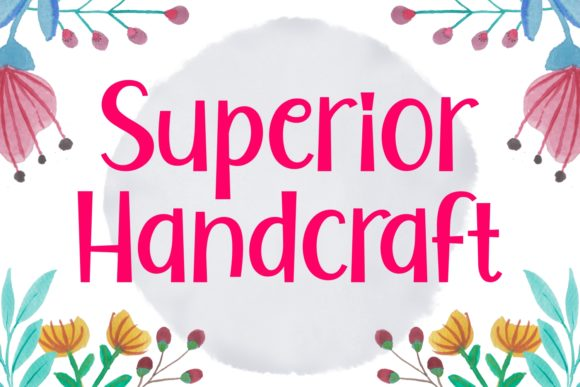 Print on Demand: Superior Handcraft Display Font By Keithzo (7NTypes) - Image 1