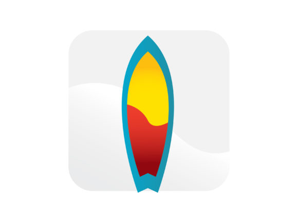 Surfing Board Icon Color Graphic Icons By samagata