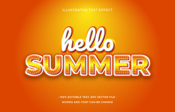 Text Effect - Hello Summer Graphic Add-ons By aalfndi