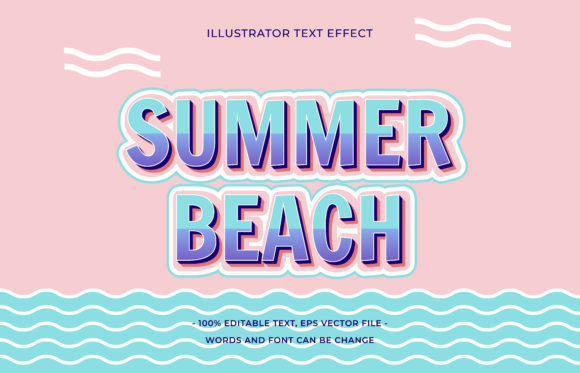 Text Effect - Summer Beach Graphic Add-ons By aalfndi