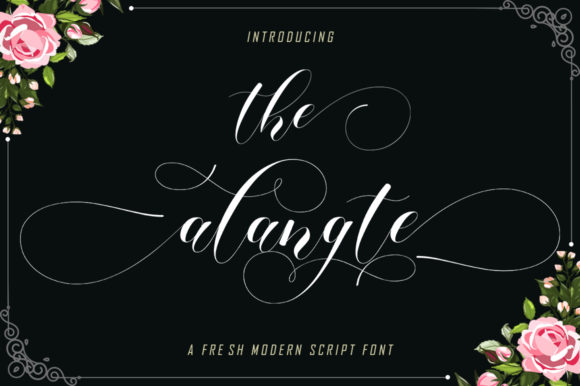 Print on Demand: The Alangte Script & Handwritten Font By MISSTYPE