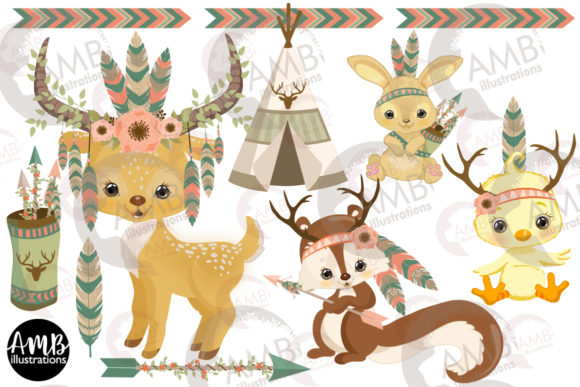 Tribal Critters 2772 Graphic Illustrations By AMBillustrations - Image 2
