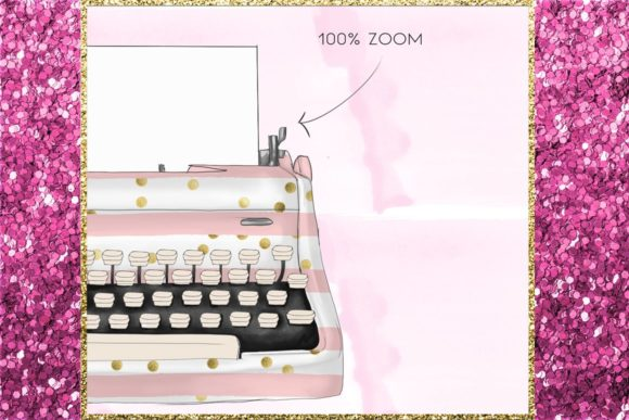 Print on Demand: Vintage Typewriters Clipart Set Graphic Illustrations By TheGGShop - Image 6