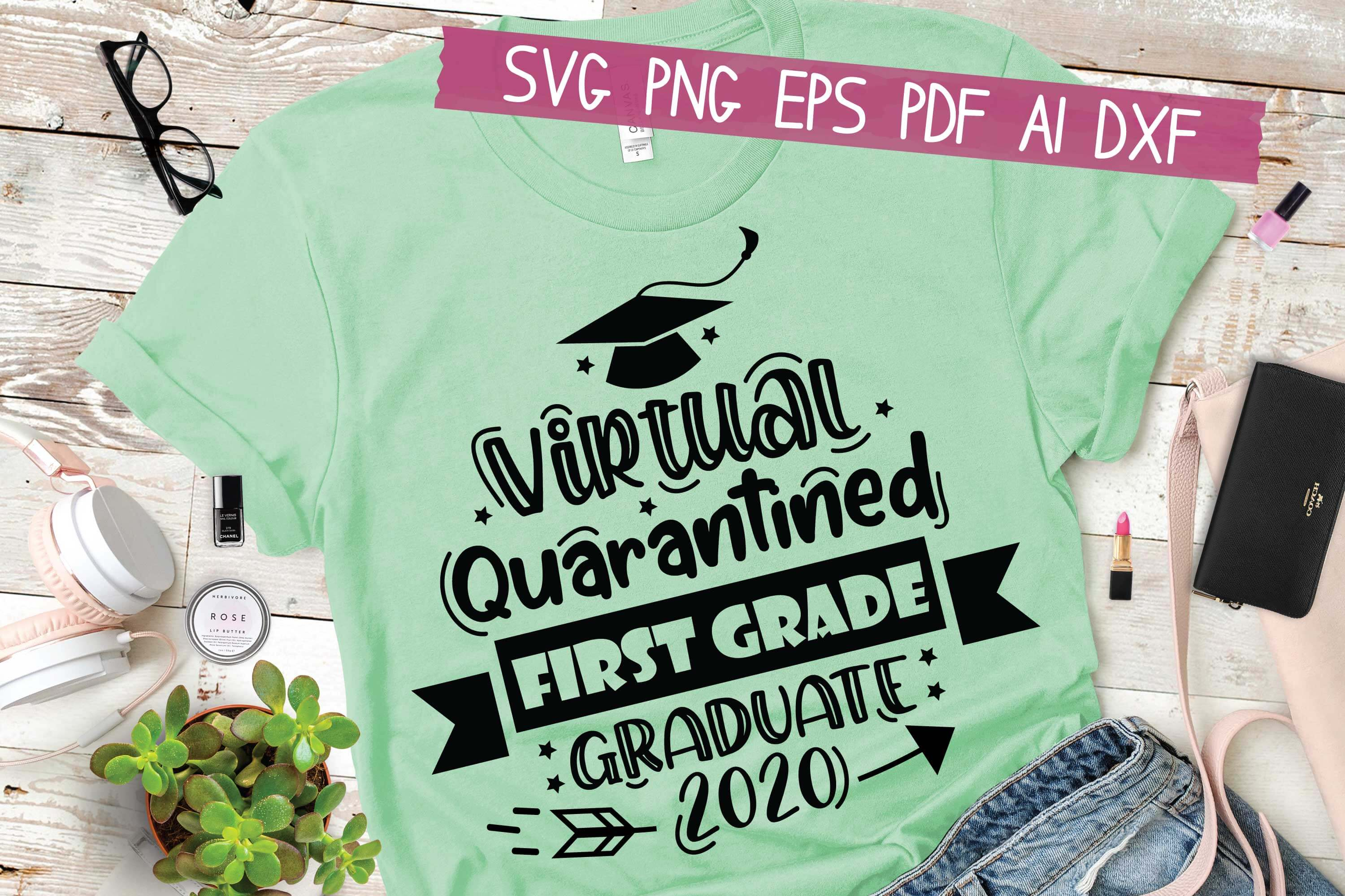 Download Free Virtual First Grade Class Of 2020 Graphic By Hkfk Studio SVG Cut Files