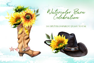Watercolor Barn Celebration Designs Graphic Illustrations By artcreationsdesign