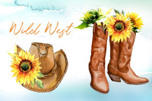 Watercolor Wild West Designs Graphic Illustrations By artcreationsdesign